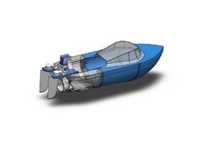3D printed dual jet RC boat