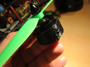 Quadcopter motor shield (30mm round arm ends)