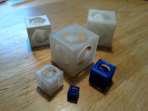 BallInABox - A sphere trapped inside a cube - Prints in place