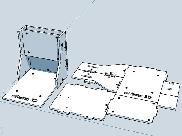 ewaste 3d printer lasercut frame by thingibox thingiverse