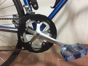 Protector Plato bicicleta carretera 53-42T (130mm) // 53-42T road bike plate protector (130mm)