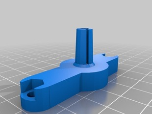 Rostock Bowden clamp offset