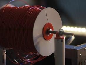 Filament spool bearing-ring hub