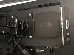 Apple TV 2 & 3 VESA Mount on back of TV