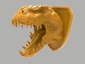 T-Rex head wall decoration