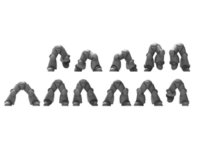 11 pairs of power armour legs - 28mm heroic