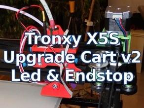 Tronxy X5S Upgrade Extruder Cart v2 - Leds & EndStop