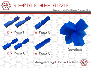 Six-piece Burr Puzzle