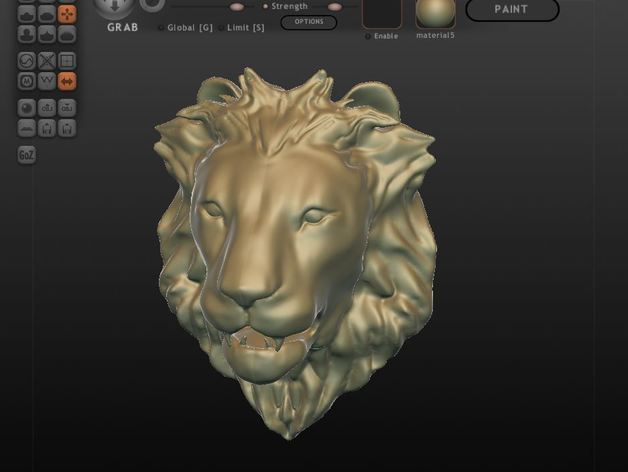 Lion Head by dot-kit - Thingiverse