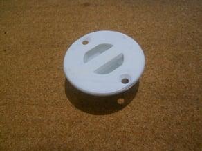 Recessed strap / lanyard mount.