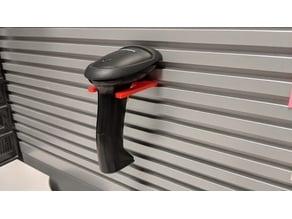 Barcode Scanner Gun Holder for Slot Wall