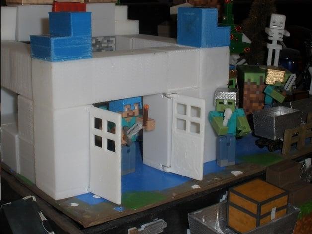 & Minecraft Wooden Door by mcsdaver - Thingiverse