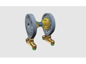 Spool holder with cones and gears bearing