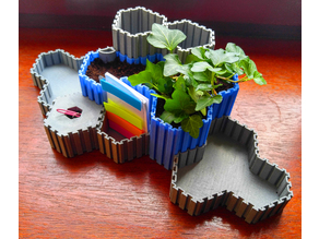 HOPPIS: Hex-organizer-plant-pot-interlocking-system