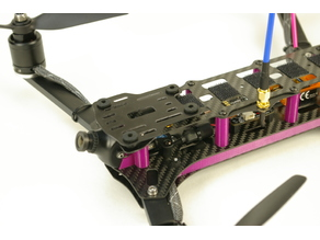 QR400 hd-cam mount / damping plate - large