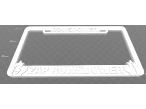 Rowsdower, Zap Rowsdower, License Plate Frame, MS3K