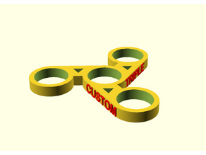 Custom Captioned Fidget Spinner (Dual Extrusion)