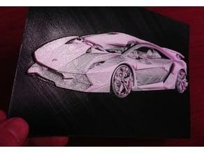 3D Lamborghini Sesto Elemento