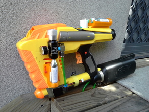 CO2 Powered Nerf Magstrike mod parts.