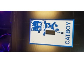 Catboy Lightswitch cover