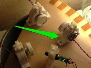 Motor mount for 1 inch diameter DC motor