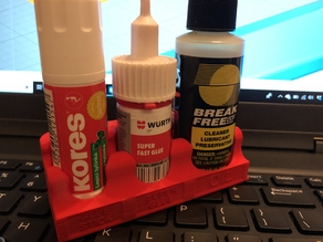 Desk Tidy for Glue Stick, Wurth Super Glue and oil