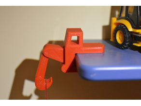 Digger-shaped shelf hook