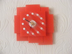 rect wall clock printed