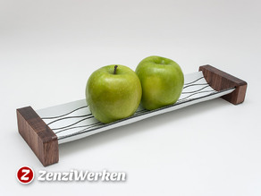 "Futuristic Apple Tray ""Lines"" cnc/laser"