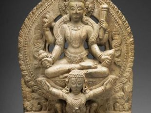 God Vishnu Riding on His Mount, Garuda, 16th/17th century