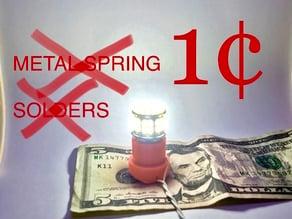 LED Light Socket - No Solders No Metal Spring