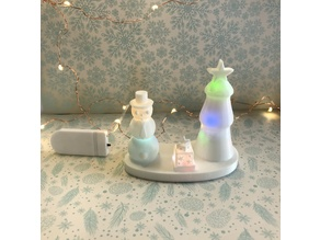Light-up Desktop Diorama for Christmas