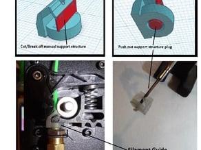Monoprice MP select mini extruder guide for Flexible Filament