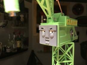 Cranky the crane From Thomas and Friends.