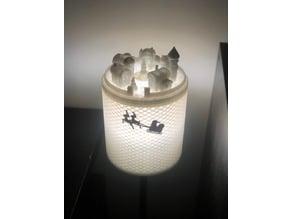 Christmas Village lamp shade
