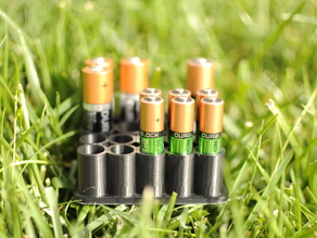 AAA and AA battery organizer