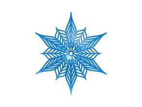 Customizable Bezier snowflake in BlocksCAD