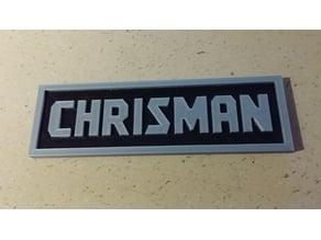 CHRISMAN CRAFTSMAN Logo