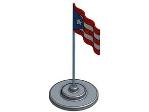 Puerto Rican Waving Flag