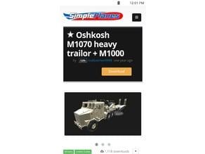SimplePlanes Oshkosh M1070 Tank hauler.