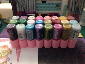 Craft Paint Bottle Holder