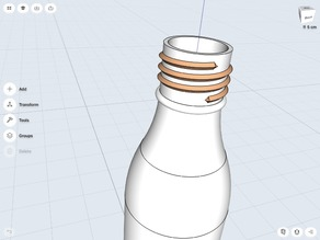 A bottle with thread