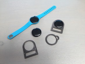 Bracket (holder) for BLE (bluetooth low energy) / iBeacon wristband type trackers