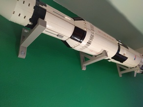 Lego Saturn 5 wall mount