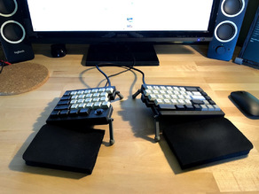 TS65 Split Mechanical Keyboard Case with built-in Tenting/Tilting and Optional PSP1000 Joystick Mouse