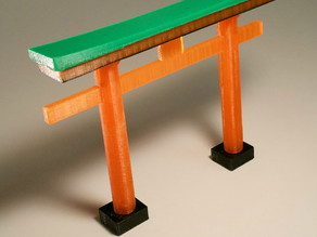 Japanese Torii separated in parts