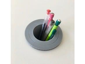 Pot a crayons pour rond de bureau - pencil holder for desktop hole