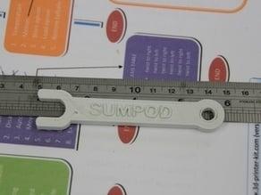10 mm Spanner for the SumPod 3D printer