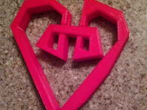 Curly Heart Chip Clip