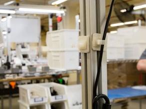 Wire Holder for Workstation Frame